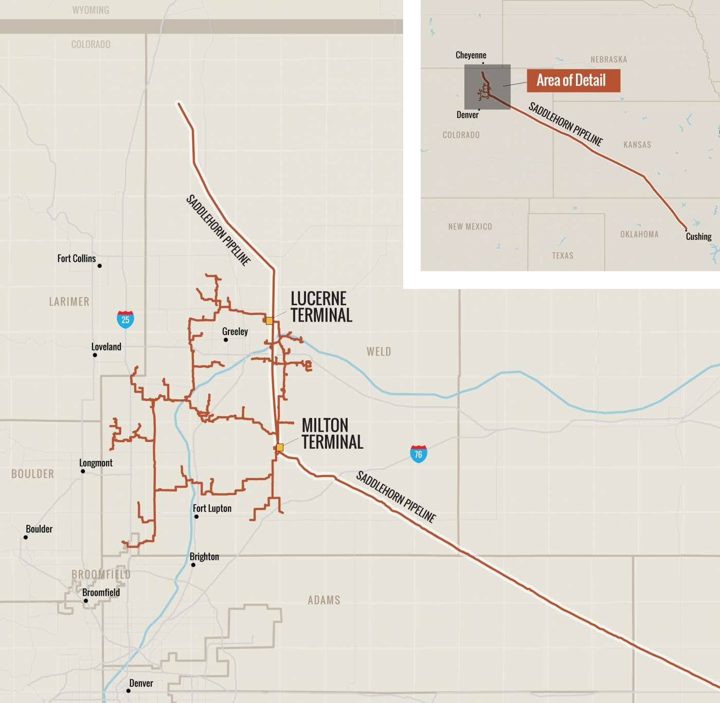 Black Diamond Gathering System and Saddlehorn Pipeline